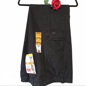 CARGO PANTS Wrangler Brown Relaxed Fit 42X32 Flex